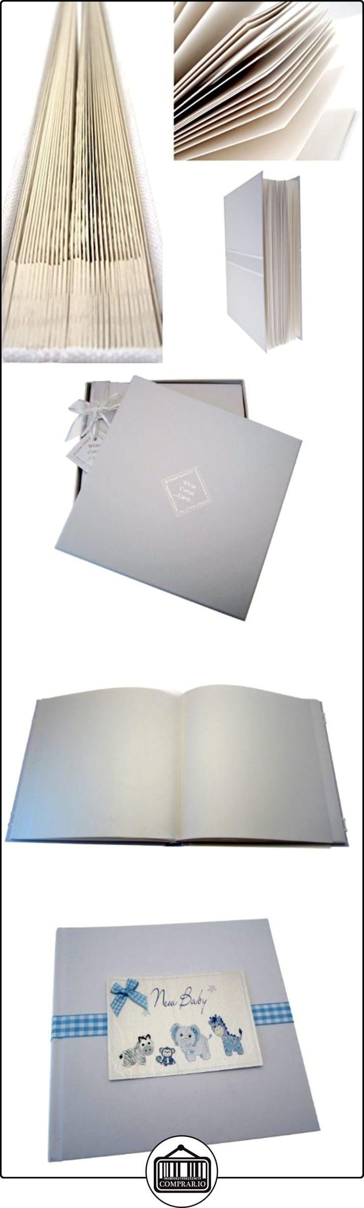 White Cotton Cards - Álbum de fotos de bebé (tamaño mediano), color azul  ✿ Regalos para recién nacidos - Bebes ✿ ▬► Ver oferta: http://comprar.io/goto/B00DQSQ6T2