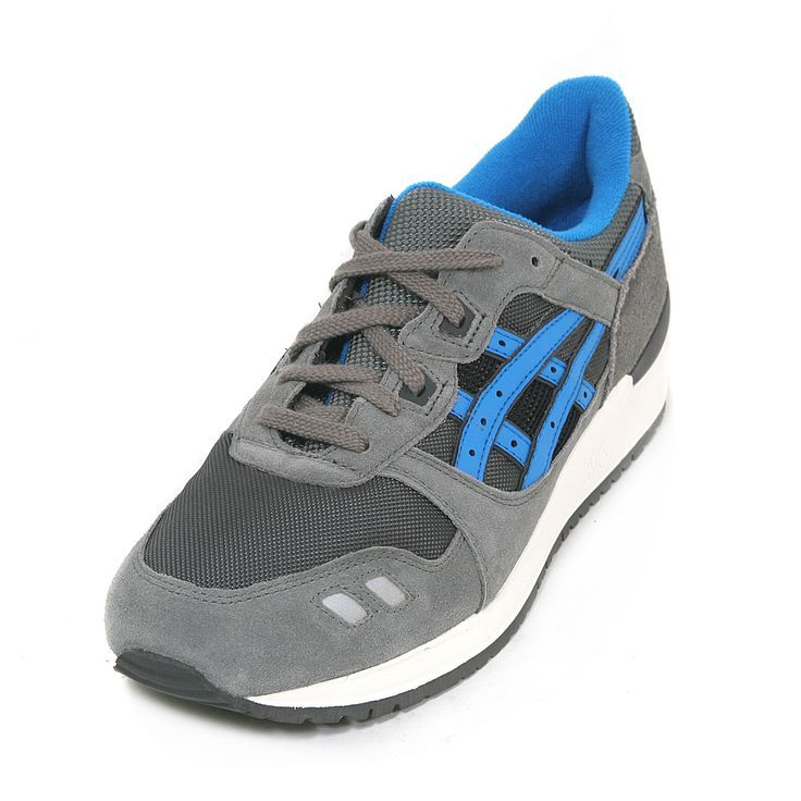 Have you joined the Asics trend yet? Get these Gel Lyte III Grey Mid Blue here - http://www.toadfootwear.co.uk/mens-shoes?manufacturer=414