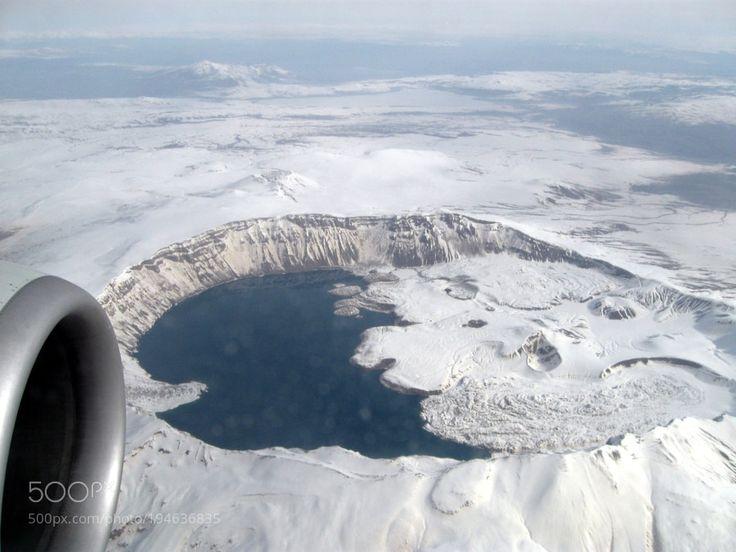 Popular on 500px : Van uçağından Nemrut Krater Gölü by halvanlar