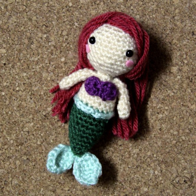 Ariel Pattern - Crochet Amigurumi - #lemonyarncreations #crochet #amigurumi #disney #littlemermaid #ariel