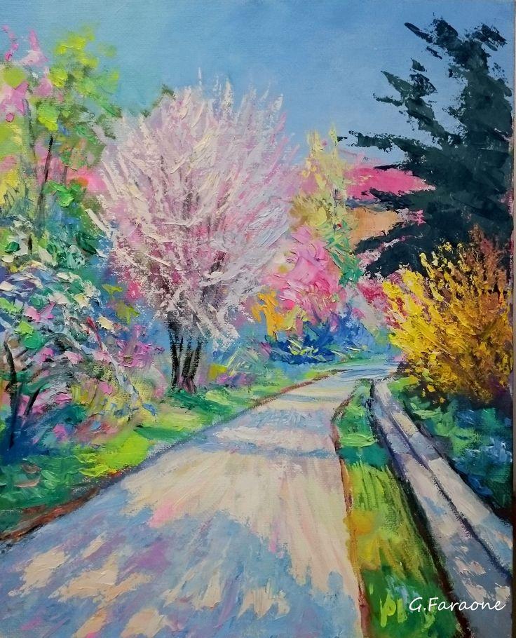 """""""Primavera"""" Olio su tela cm 50x40 ( Codice 264)"""