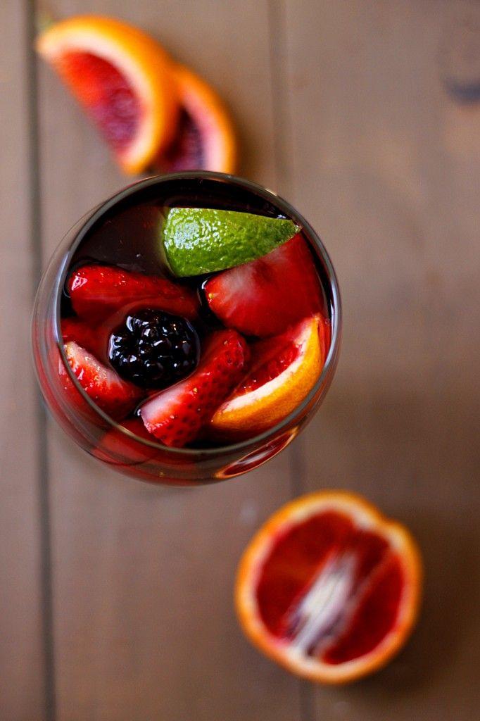 Blood Orange Blackberry Sangria | Fabtastic Eats