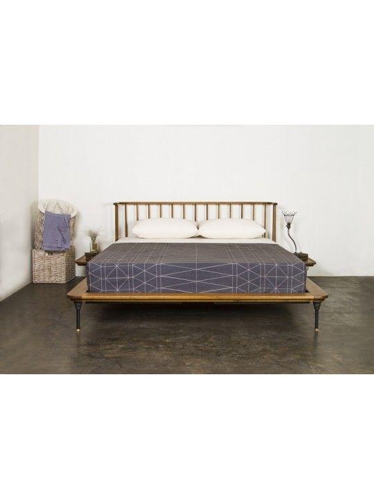 Distrikt Bed Queen Bed in Hard Fumed by Nuevo Living