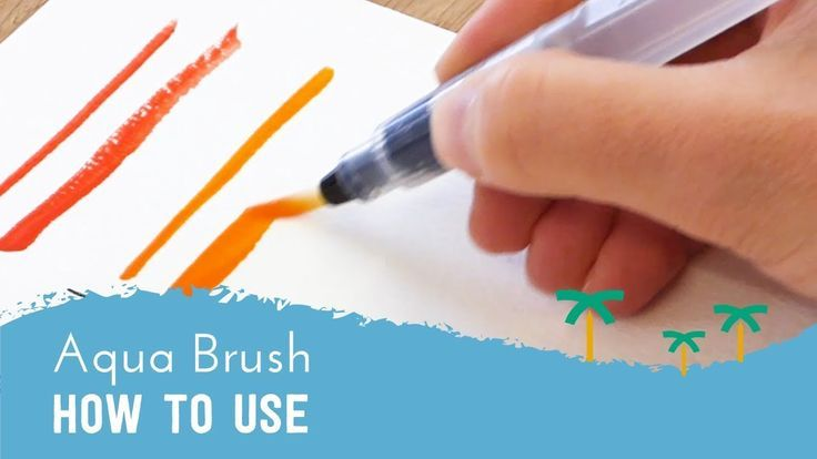 How To Use A Water Brush Pen Aqua Brush Tutorial Stationery