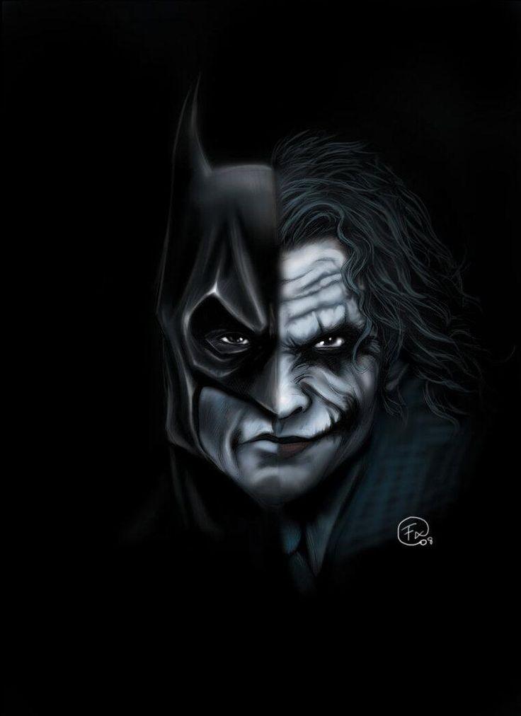 Pin by z00d on comic batman batman artwork batman vs - Batman contre joker ...