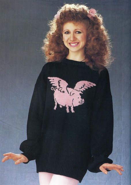 Bonnie Langford. I mean, what can you say? More of these ... things.... at http://www.vintag.es/2017/02/25-incredibly-ugly-knitted-sweaters.html#more