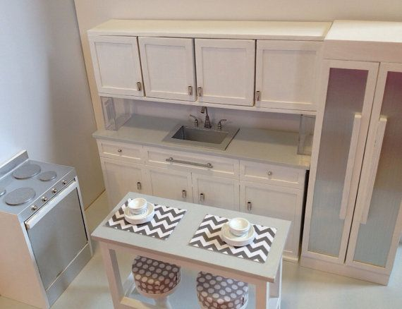 1:6 scale Kitchen with sink drawers and by ItsPerfectlyPetite