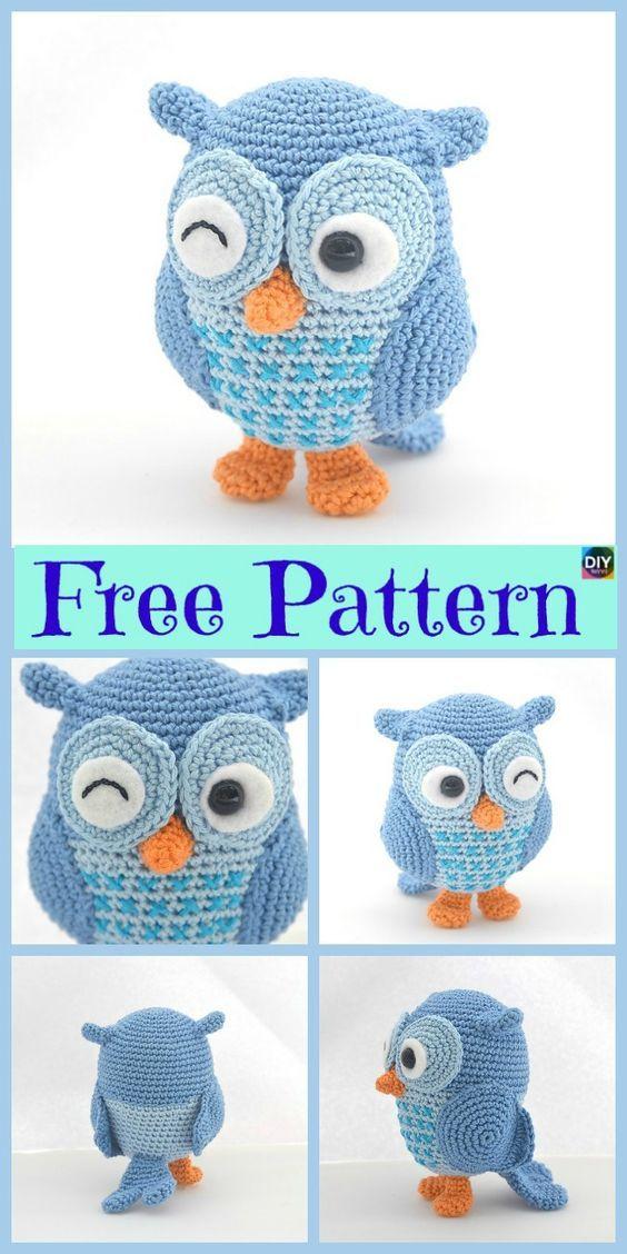 12 Cutest Crochet Amigurumi Owl Free Patterns | crocheting