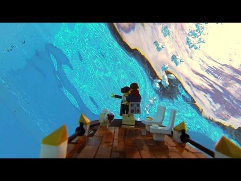 Lego Titanic sinking - onboard camera view - YouTube