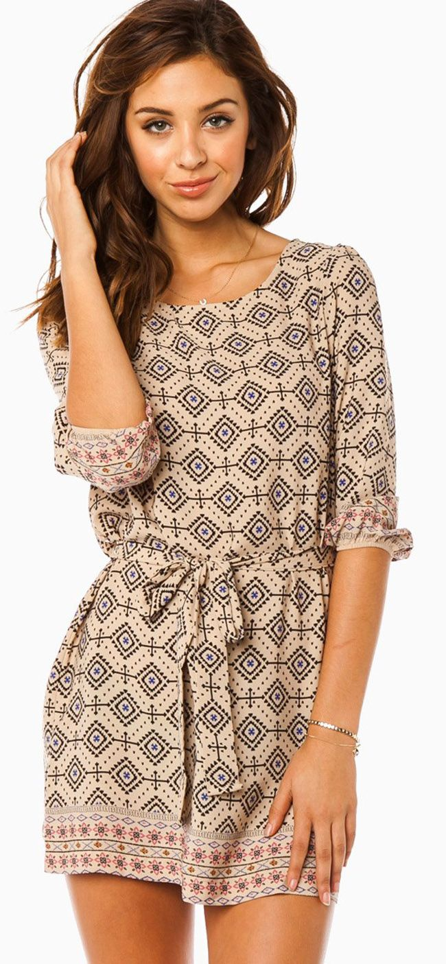 Patterned dress Awesome! I love when women wear these simple sexy dresses looks hot!