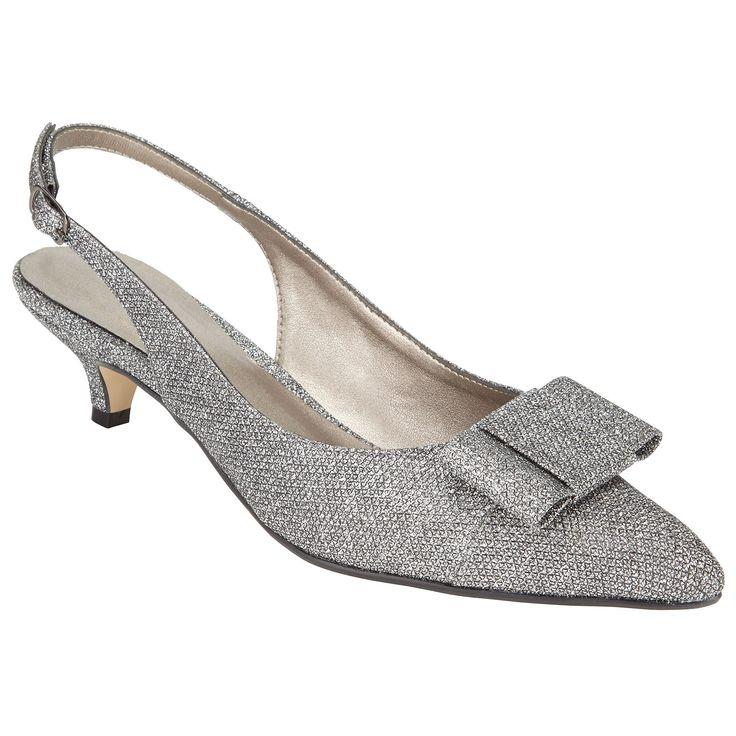 2016 Hot Sale John Lewis Dorchester Bow Slingback Court Shoes Women Silver ASJJF77