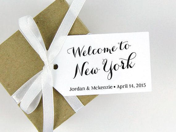 Welcome to New York Tag - Custom Tag - SMALL Size - 36 Pieces - 2 x 1.1 inches