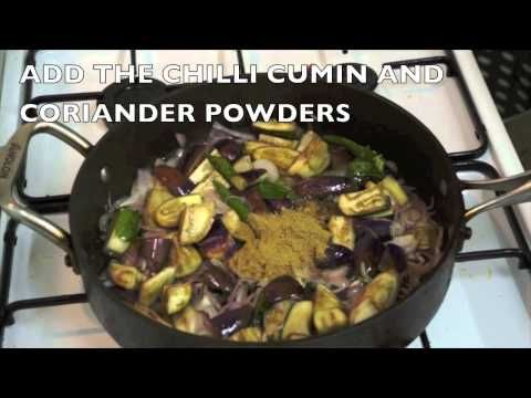 70 best curry recipes how to videos images on pinterest curry brinjal aubergine curry eggplant recipe with peas how to cook great indian youtube forumfinder Images