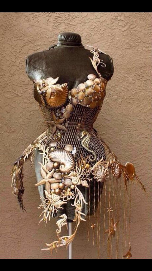 Steam punk ariel corset