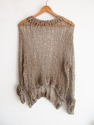 Comfy hand knit sweater