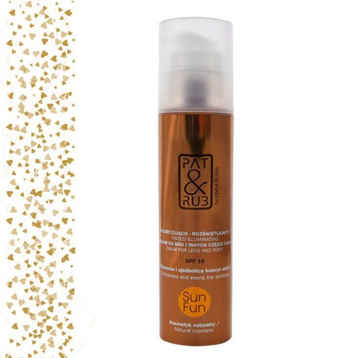 #Alternatywa dla samoopalaczy. #Balsam, który nawilża, poprawia i ujednolica kolor skóry, rozświetla i dodaje blasku. Taki #BB do ciała i nóg, opracowany w 100 % z naturalnych składników #eko od #patandrub  #patrub #kosmetyki #naturalcosmetics #body_balm #tinted #glitter #illuminating #moisturizer #sylwester #makeup