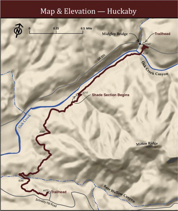 Huckaby Sedona Trail Map