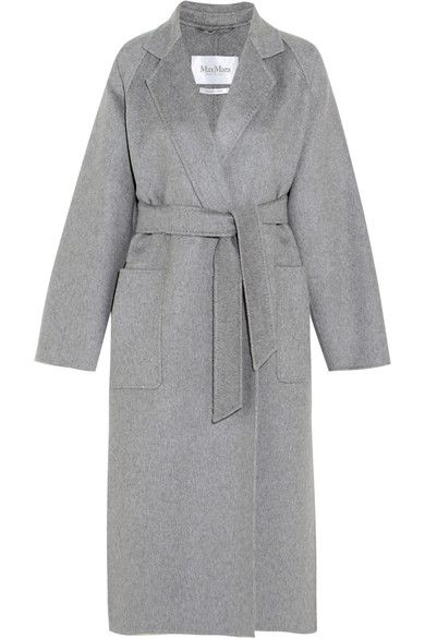Max Mara - Marlo Belted Cashmere Coat - Gray - UK16
