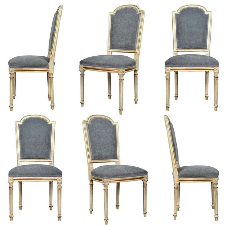 French Louis XVI Set of Six Dining Chairs Modern dining  : bfb5e9862c92f1cdbfaf1f8ec3eab0dd from www.pinterest.com size 736 x 736 jpeg 54kB