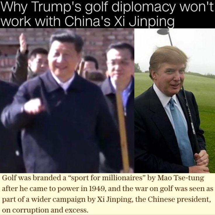 Why Trump's golf diplomacy won't work with China's Xi Jinping [CNN Politics] http://edition.cnn.com/2017/04/02/politics/trump-xi-jinping-golf-diplomacy-wont-work/index.html ②⓪①⑦ ⓪④ ⓪② #USPolitics @realDonaldTrump