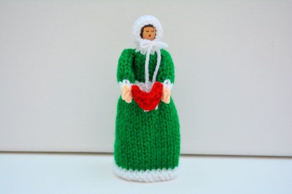 Christmas Doll Knitting Pattern Carol by EdithGraceDesigns on Etsy