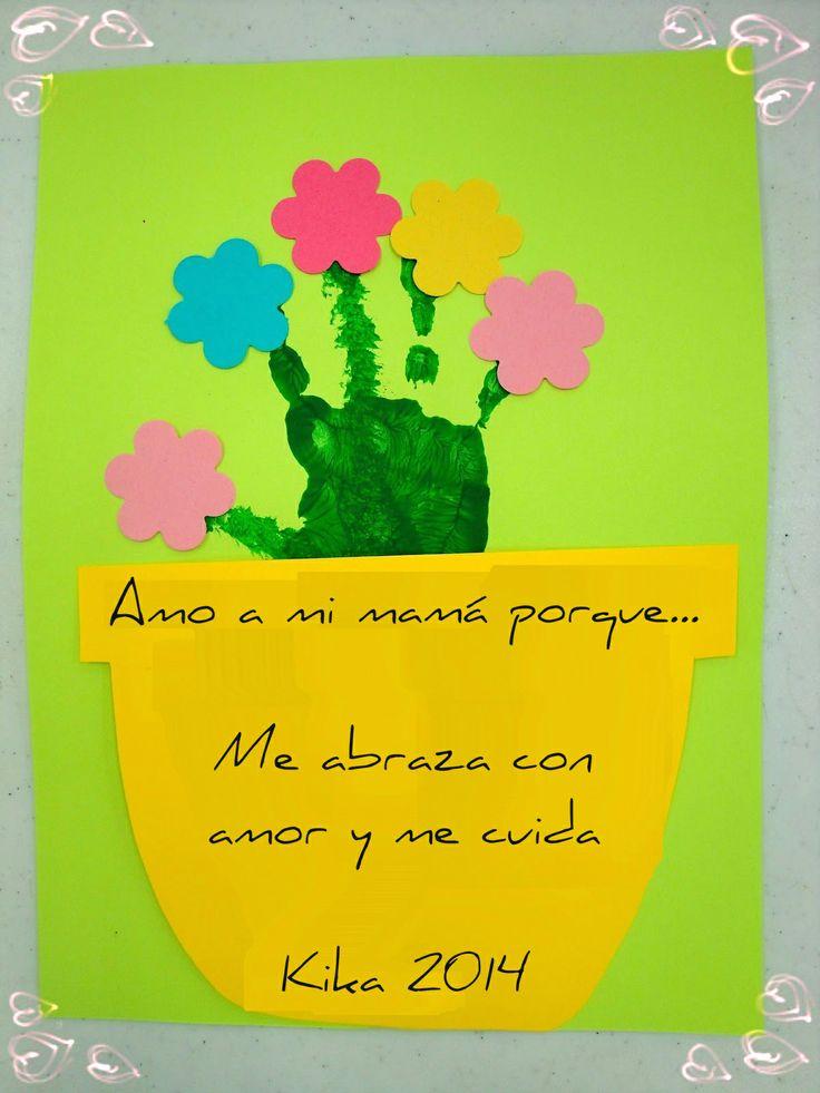 Soy Preescolar: #Creatividad para el Día de la #Madre #Manualidades para Celebrar: Dile a mamá por qué la amas, reconociendo todo lo que hace por ti. ツ Enseñanza #Preescolar; #Primavera en la #Escuela