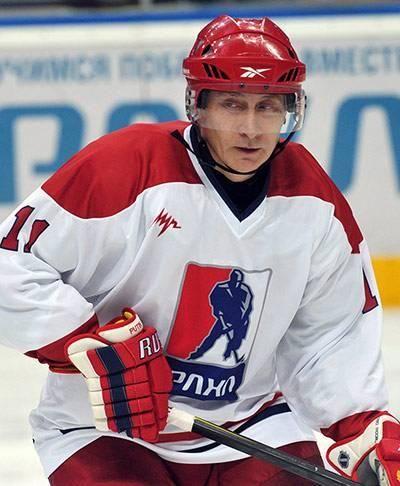 President Vladimir Putin enjoying a game of ice hockey