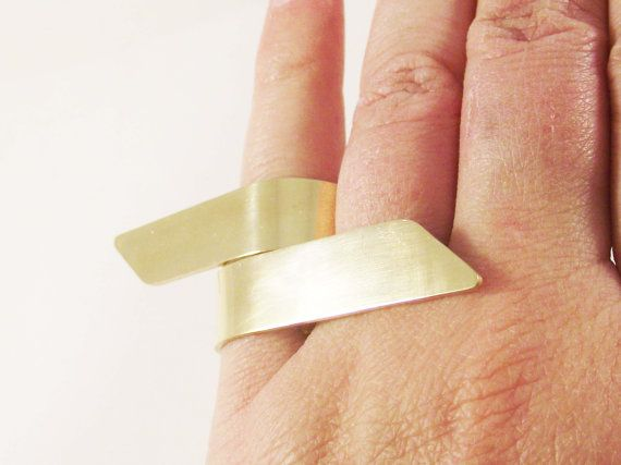 Minimalistic Cuff Rings, Gold Knuckle Ring, Steel Stacking Rings, Chevron rings, Gold jewelry, Gift for her, Adjustable Rings, 24K Gold Ring