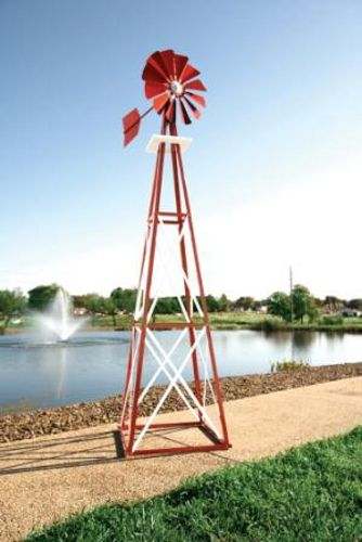 Outdoor Water Solutions Large Red/White Backyard Windmill BYW0005 by Outdoor Water Solutions Inc.  for $328.97 in Aeration Equipment - Pond Maintenance - Agricultural Sprayers & Chemicals - Agriculture : Rural King