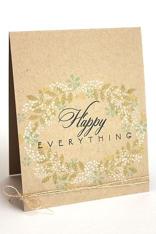 Happy Everything Card by Heather Nichols for Papertrey Ink (March 2014)