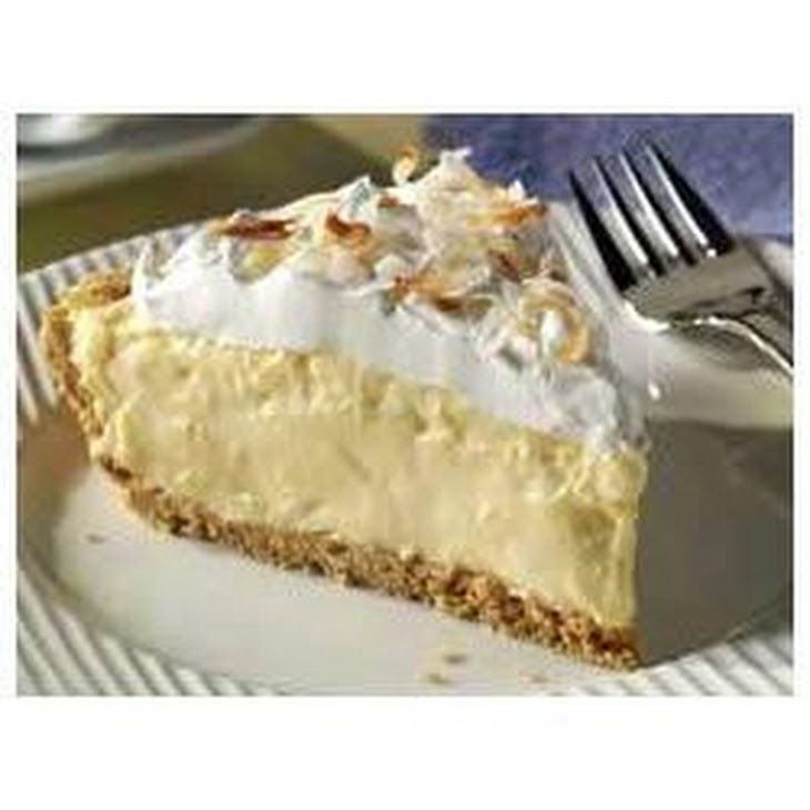 Easy Coconut Cream Pie Recipe Desserts with cold milk, instant pudding mix, flaked coconut, Cool Whip Whipped Topping, honey