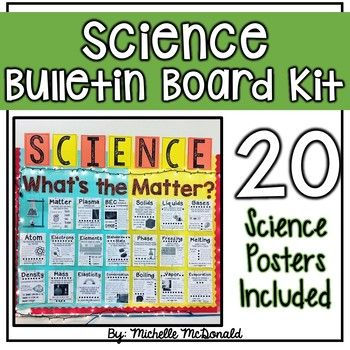 Science Bulletin Board Kit. 20 Science Posters pertaining to the states of matter. Everything you need. Save time!