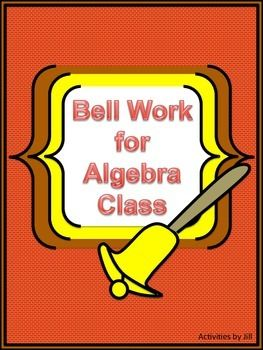 This product includes 140 pairs of questions for a total of 280 algebra problems for you to use ... enough for the entire year!  Most algebra topics are included. The problems may be used in any order as bell work/warm-ups, exit slips, or as task cards for review.   This collection of problems can be used to provide review for Algebra 1, Geometry, or Algebra 2 students.