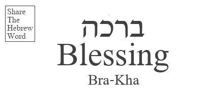 Blessing in Hebrew - Brakha. Share the Hebrew word!