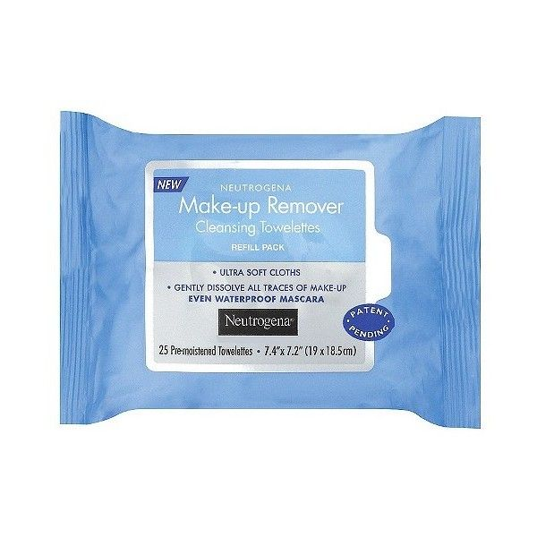 Neutrogena Makeup Remover Cleansing Towelettes Refill Pack -  Count ($4.79) ❤ liked on Polyvore featuring beauty products, skincare, face care, fillers, beauty, makeup, neutrogena skincare, neutrogena skin care and neutrogena
