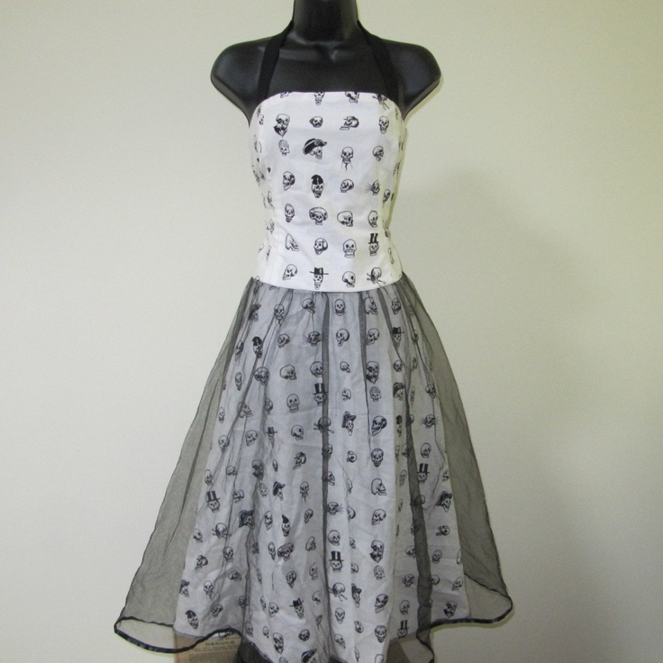 Skulls Dress Punk Wedding Dress. $129.00, via Etsy. - does this have to be wedding only?  love it!