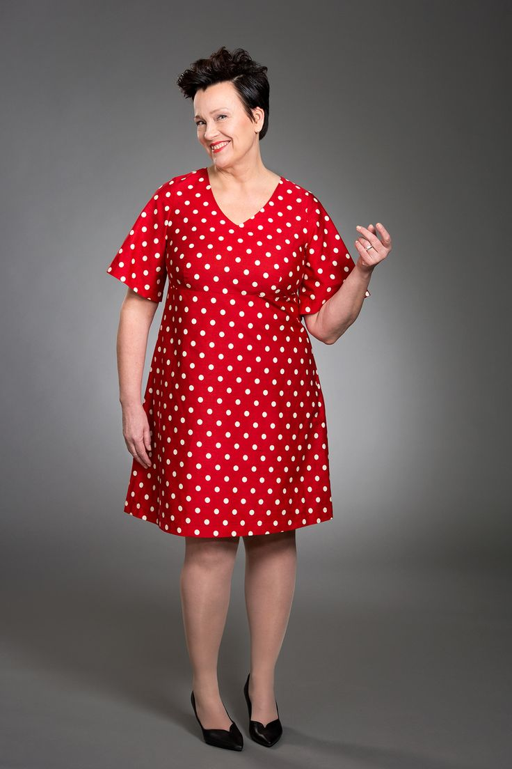 Mia Polka Dot Dress Red Photo: Eveliina Immonen / Studio Liisa Model: Raisa Leinonen