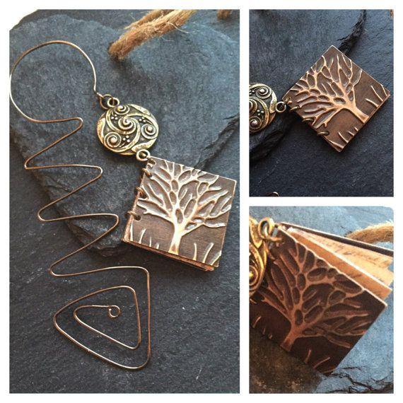 antique bronze wire bookmark wire bookmark by HandmadeByKikiJ