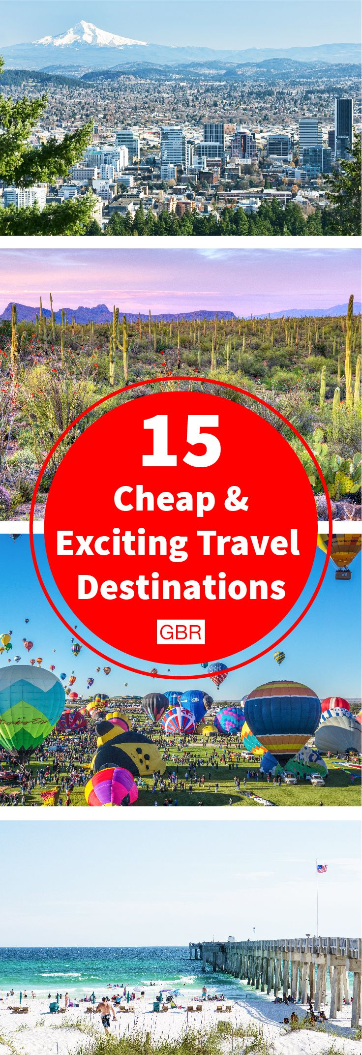 A cheap vacation doesn't have to be boring. Here are some exciting travel destinations! #budgettravel