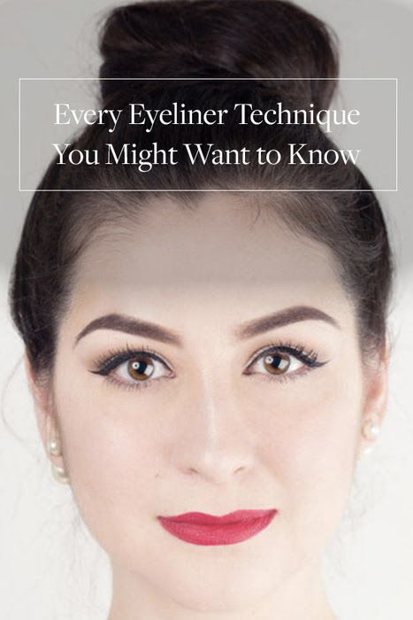 Every Eyeliner Technique You Might Want to Know. We've broken it down to basics. If you feel like your eye-makeup game has been a one-trick pony, consult our handy guide to learn the six definitive eyeliner techniques you can pull out for any need.