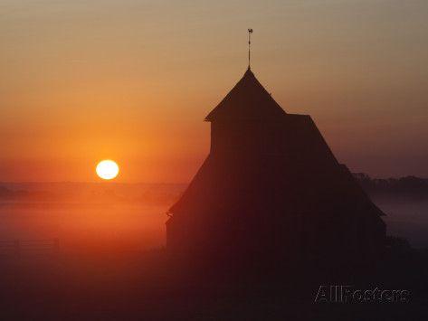Fairfield Church at Sunrise, Romney Marsh, Near Rye, Kent, England, United Kingdom, Europe Photographic Print by Stuart Black - AllPosters.co.uk