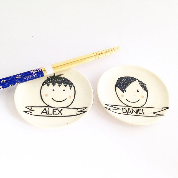 Personalized Bowl - Personalised Sushi Bowl - Sushi Plate - Ceramic Bowl - Soy Sauce Bowl - Personalised Gift for Kids