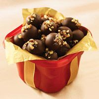 Nila Turtle Chocolate Truffles Mix first 3 ingredients until well blended.