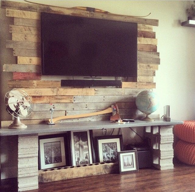 Wall Mounted Flat Screen TV Frame by Shopofindustry on Etsy https://www.etsy.com/listing/217438568/wall-mounted-flat-screen-tv-frame