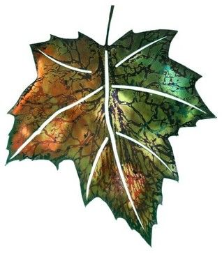 3D Maple Leaf Metal Outdoor Wall Art - contemporary - outdoor ...