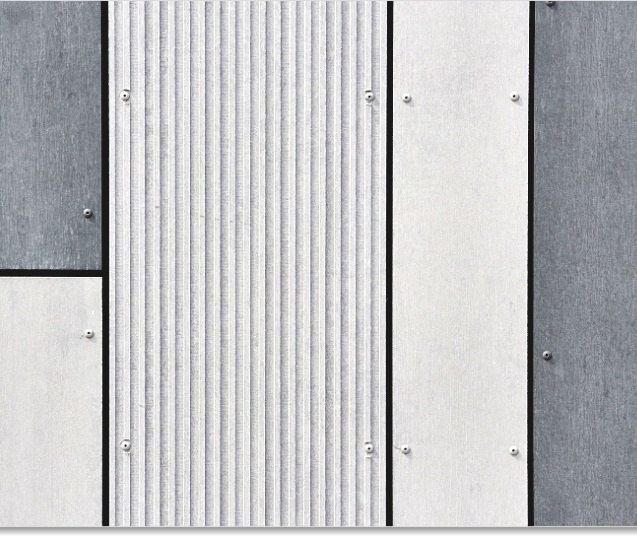 Textured Cement Panels : Equitone facade materials combination of different new