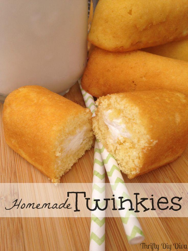 DIY Homemade #Twinkies Recipe   http://thriftydiydiva.com/diy-homemade-twinkies-recipe/   #twinkiesrecipe #desserts