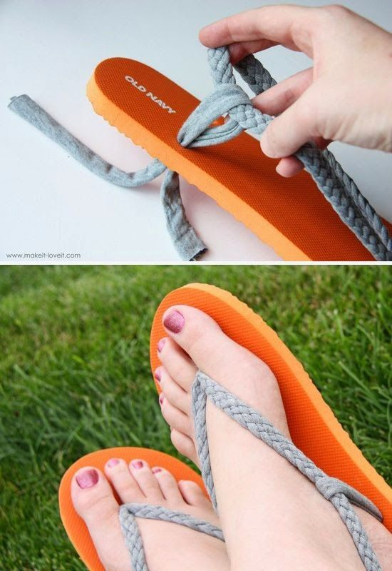 Salvage ripped flip-flops by making a more comfortable (and cuter!) version.
