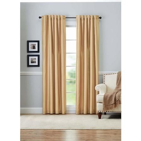 Better Homes And Gardens Lined Faux Silk Curtain Panel   Master