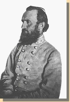 """C.S.A. Lieutenant General  Thomas J. """"Stonewall"""" Jackson   1863  The last portrait of Jackson, taken at a Spotsylvania County farm, about ten days before his mortal wounding. Mrs. Jackson regretted that the image showed """"a seriousness to his countenance that was not natural."""" (Source: National Park Service)"""